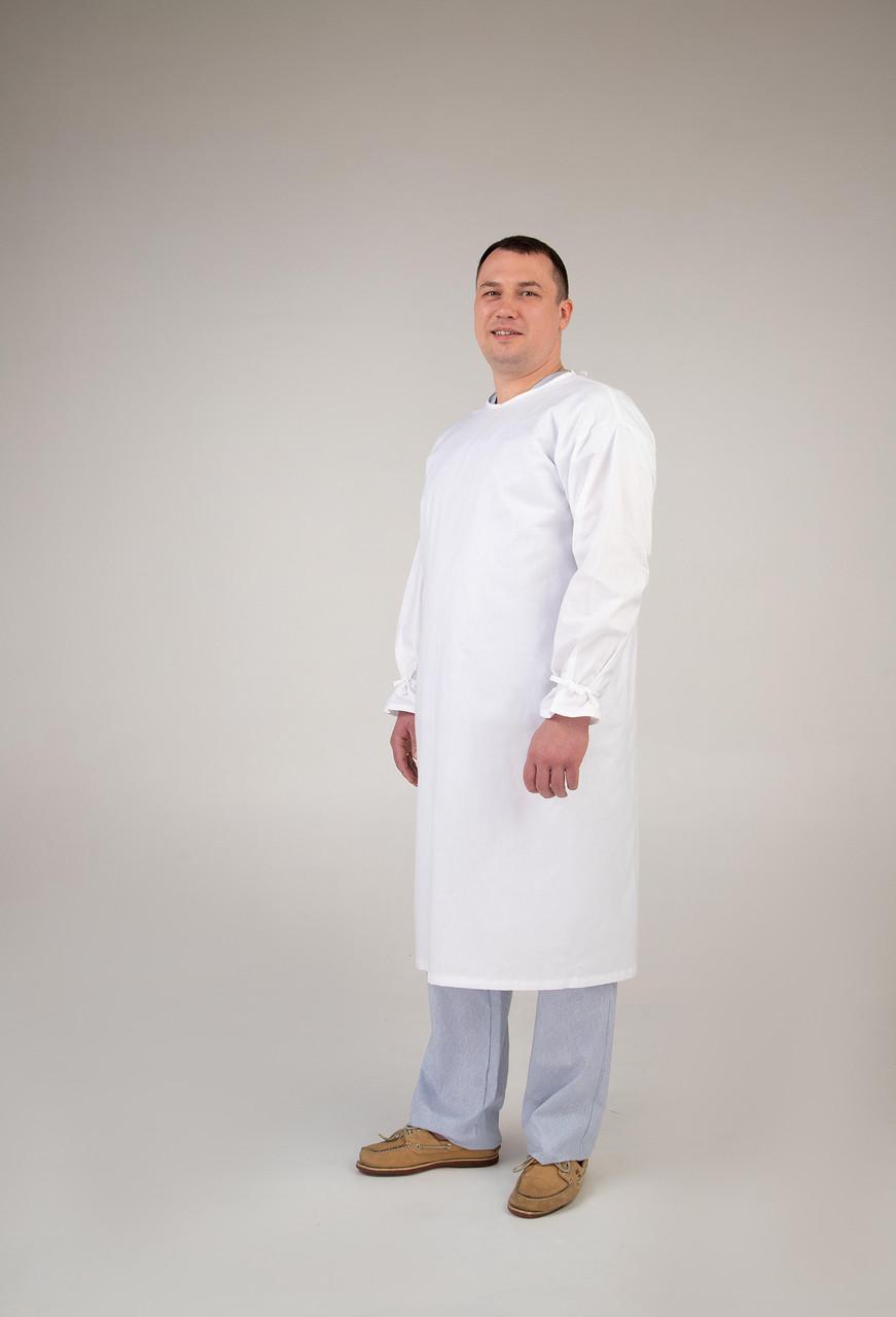 Халат защитный медицинский на завязках    42г/м2    ОПТОМ