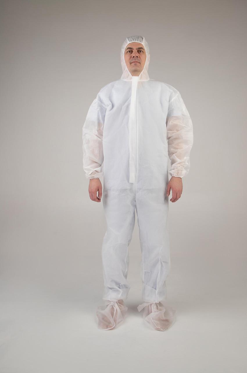 Комбинезон  защитный медицинский одноразовый 60г/м2    ОПТОМ