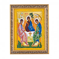 """Икона """"Святая Троица"""" багет 18х23 см рисунок из каменной крошки"""