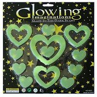 Фосфорные наклейки сердечки Glowing 663