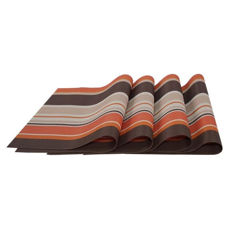 Комплект из 4-х сервировочных ковриков, цвет коричневый