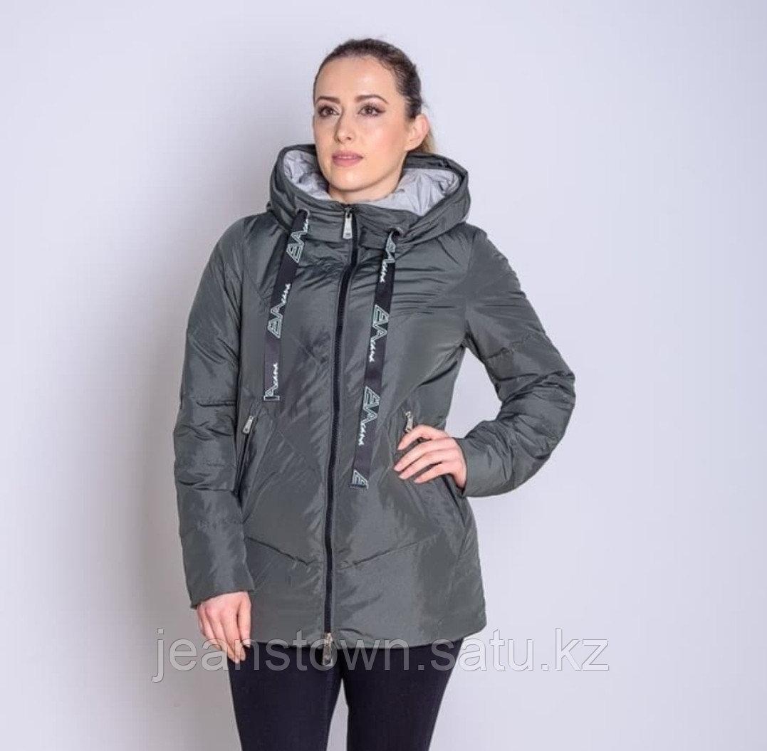 Куртка женская демисезонная  Evacana зеленая короткая