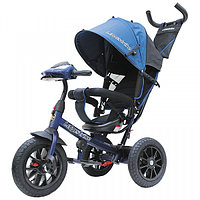 Велосипед 3-колесный Lexus Trike с музыкальной панелью темно-синий