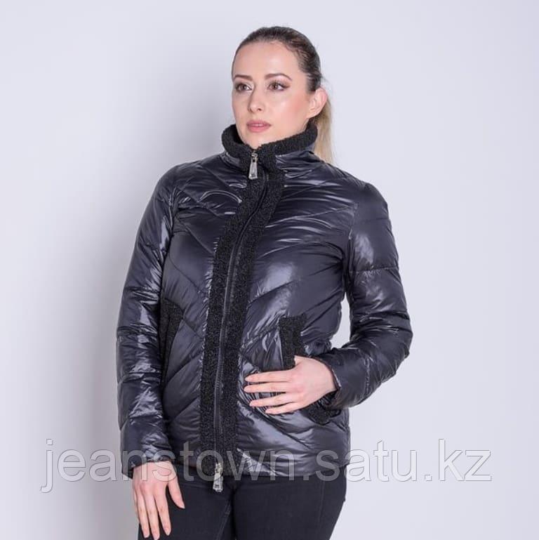 Куртка женская демисезонная  Evacana черная короткая
