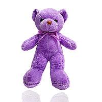 Мягкая игрушка мишка Нестор с бантиком 36 см фиолетовый