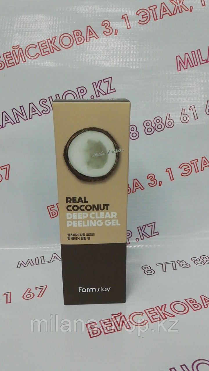 Farm Stay Real Coconut Deep Clear Peeling Gel 100ml - Пилинг-гель с экстрактом кокоса