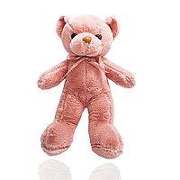 Мягкая игрушка мишка Нестор с бантиком 36 см светло-розовый