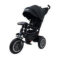 Велосипед BMW трехколесный с поворотным сиденьем и музыкальной панелью черный