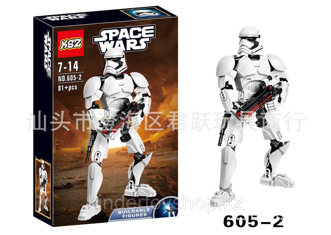 Конструктор аналог лего LEGO Star Wars: KSZ605-2 Штурмовик Первого Ордена 75114  Звездные войны