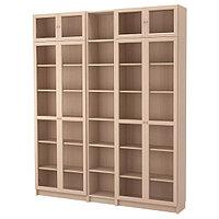 Шкаф БИЛЛИ/ОКСБЕРГ дубовый шпон, беленый 200x30x237 см ИКЕА, IKEA, фото 1