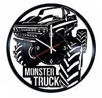 Настенные часы из пластинки, Monster Truck Монстр-трак, подарок фанатам, любителям, 0434