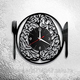 Настенные часы из пластинки, Мозги, Кухня, 0517