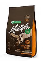 Сухой корм для щенков всех пород Nature's Protection Lifestyle Grain Free Junior Salmon&Krill лосось c крилем