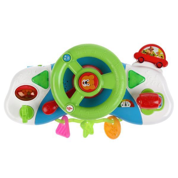 Умка Интерактивная игрушка «Развивающий руль» с креплением на кроватку, 80 звуков