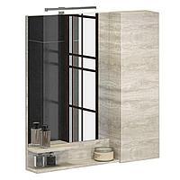 Зеркальный шкаф Верона 750х800х150 мм белый дуб
