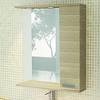 Зеркальный шкаф Марио 750х832х154 мм сосна