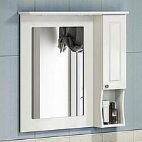 Зеркальный шкаф Палермо 900х860х150 мм слоновая кость