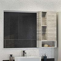Зеркальный шкаф Прага 1200х800х140 мм белый дуб