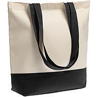 Сумка для покупок на молнии Shopaholic Zip, неокрашенная с черным