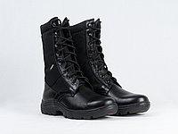Ботинки с высокими берцами гладкие комбинированные