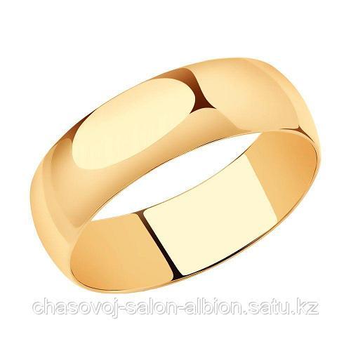 SOKOLOV Кольцо обручальное SOKOLOV 110029 красное золото 20,5р