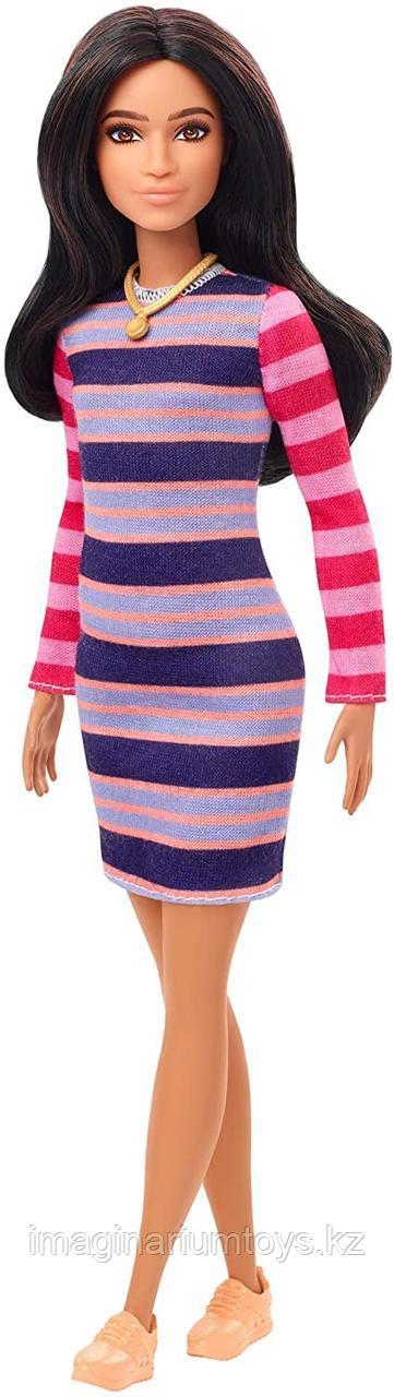 Кукла Barbie Fashionistas брюнетка в платье  #147