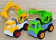 306 Строительная техника Truck Construction 2 в 1 в пакете 30*23, фото 2