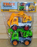 306 Строительная техника Truck Construction 2 в 1 в пакете 30*23, фото 1