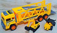 6800-1/5 Трейлер со строительной техникой в пакете  36*18, фото 1