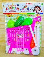 7705-5 Тележка Kitchen супермаркет фрукты в пакете в 32*25