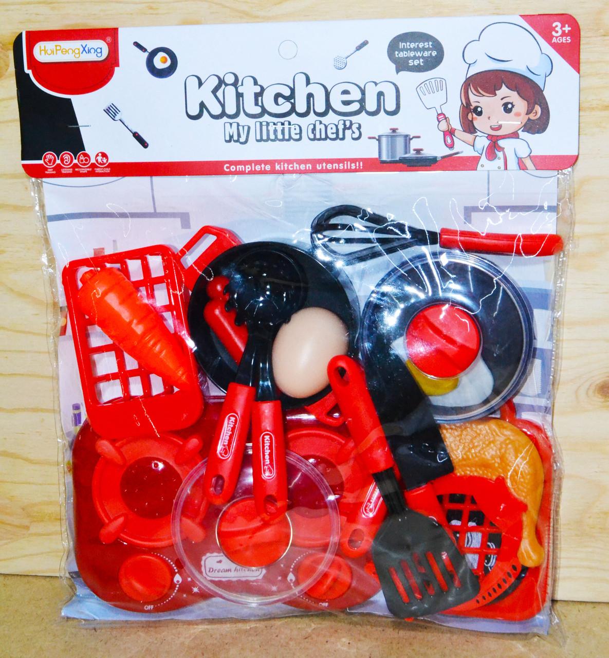 7706-3 Кухня Kitchen My little chef's красная в пакете 33*30