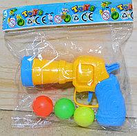 8822 Пистолет с 3 шариками в пакете 16*13, фото 1