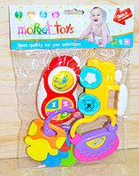 8359B-6 moppet toys погремушка 4в1  в пакете 28*19см
