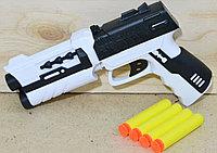 5100-2A Пистолет белый-черный с пульками в пакете 23*16, фото 1