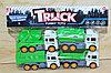 632-3 Мусоровоз Truck 4 в 1 в пакете зеленый 27*20