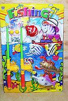 15902 Огромная Рыбалка Fishing 2 удочки с морскими животными на картонке 63*43