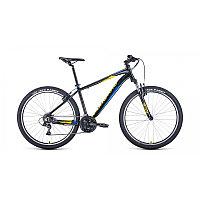 """Велосипед FORWARD APACHE 27,5 1.2 (27,5"""" 21 ск. рост 19"""") 2020-2021, черный/желтый, RBKW1M37G010"""