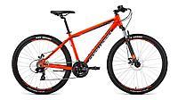 """Велосипед FORWARD APACHE 29 2.2 disc (29"""" 21 ск. рост 17"""") 2020-2021, красный/серебристый, RBKW1M39G"""