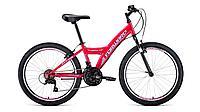 "Велосипед FORWARD DAKOTA 24 1.0 (24"" 18 ск. рост 13"") 2020-2021, розовый/белый, RBKW1J14E004"