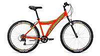"""Велосипед FORWARD DAKOTA 26 1.0 (26"""" 6 ск. рост 16.5"""") 2020-2021, оранжевый/ярко-зеленый, RBKW1M1660"""
