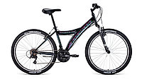 """Велосипед FORWARD DAKOTA 26 2.0 (26"""" 18 ск. рост 16.5"""") 2020-2021, черный/голубой, RBKW1M16E002"""