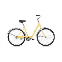 "Велосипед FORWARD GRACE 26 1.0 (26"" 1 ск. рост 17"") 2020-2021, бежевый, RBKW1C161007"