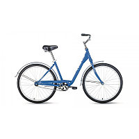 "Велосипед FORWARD GRACE 26 1.0 (26"" 1 ск. рост 17"") 2020-2021, синий/белый, RBKW1C161006"
