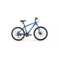 """Велосипед FORWARD HARDI 26 2.0 disc (26"""" 21 ск. рост 17"""") 2020-2021, синий/бежевый, RBKW1M66Q020"""