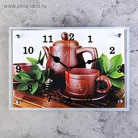 """Часы настенные, серия: Интерьер, """"Японский чайный набор"""", 25х35 см, микс"""