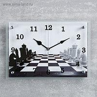 """Часы настенные, серия: Интерьер, """"Шахматная партия""""25х35 см, микс"""