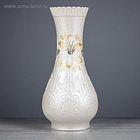 """Ваза настольная """"Подарок"""", перламутр, цветы, керамика, 41 см"""
