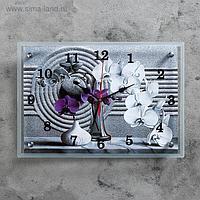 """Часы настенные, серия: Цветы, """"Композиция из орхидеи"""", 25х35 см, микс"""
