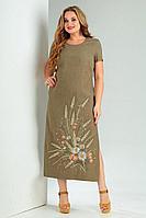 Женское летнее зеленое большого размера платье Jurimex 2491 54р.