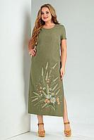 Женское летнее зеленое большого размера платье Jurimex 2491-2 56р.